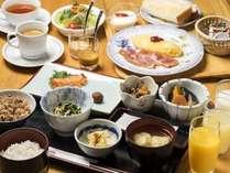 和食・洋食から選べる朝食