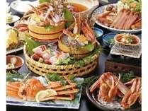 冬の味覚王!松葉蟹のフルコースのお料理です。