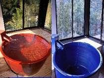 180°展望浴室 おもと・しゃくなげのお部屋の二階にある展望風呂