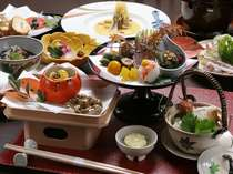 会席料理「椿」一例