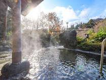 """*【露天風呂】四季の景観と川のせせらぎを感じながらの入浴は、格別の一言。"""""""