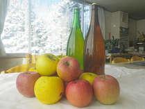 *【りんごジュース】手作りのりんごジュース♪お子様にもご好評いただいています。