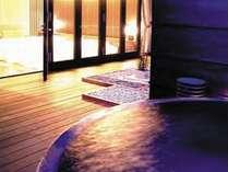 【露天風呂付きツイン】24時間いつでも利用可能!露天風呂で夜空をひとりじめ!