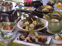【四季旬彩会席】伊勢海老のお造りと鮑踊り焼き付きプラン