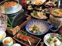 人気のグルメプラン「穴子満喫コース」造り、焼物、天麩羅、釜飯など!