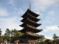 当館すぐ目の前!興福寺五重塔。