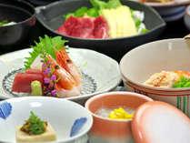 """*【夕食一例】新鮮な食材を吟味!その季節の""""美味""""をご堪能下さい。"""