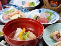 *【夕食(一例)】季節を大切に、料理長が丁寧に仕上げるご夕食です