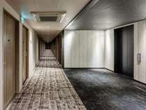 EVホール 客室廊下