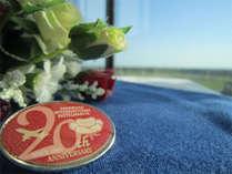 開業20周年記念バッチ
