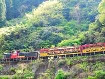 《トロッコ列車》(トロッコ嵯峨駅までホテルより1キロ)