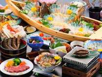 贅沢海の幸♪新鮮なアワビはコリコリ刺身&柔らか~い焼きで召し上がれ!◆離れ