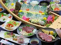 【夕食一例/熊本産四大肉プラン30年度秋冬】海鮮に飽きたらお肉もね♪