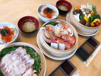 夕食:富良野・北海道産食材を中心としたせいろ蒸し(1泊又は1泊目)