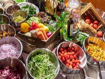 九州産の新鮮野菜を豊富にご準備しております。