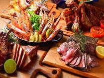 【グリリアータ】ホテルでは珍しいイタリア風BBQをご提供しております。7時~10時まで。