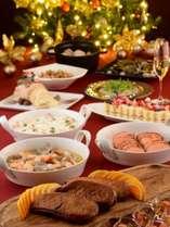 特別階ハースフロアに宿泊する19時からの「クリスマスディナービュッフェ」プラン(予約制の朝食付き)