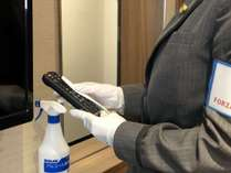 【安心・安全への取り組み】客室清掃後に備品等の除菌消毒を実施しております。