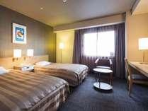 <ツインルーム>Wi-Fi完備 19.8平米~/ベッド幅120cm