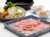 美味しいお肉に舌鼓!贅沢お鍋を堪能♪常陸牛すき焼き付★お料理グレードアップ!~2食付き