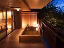 【テラス露天風呂付き客室】自分の好きなタイミングでいつでも入れる贅沢
