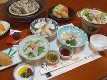 【ふぐ・牡蠣コース】秋~冬の季節限定。ダブルの海の幸でちょっと贅沢に