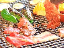 新鮮な野菜に旨味の詰まったお肉でBBQ♪