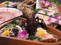 三重ブランド!伊勢海老、鮑の活造りなど海の味覚満載!写真は料理イメージです。