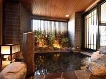 【男性大浴場 半露天】週末の朝限定で果実湯もお楽しみ頂けます。