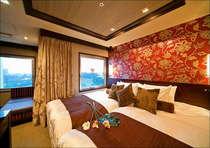 【喫煙】パークビュースイートツイン(1005号室)27平米、120cm幅シモンズ製ベッド、浴室独立型