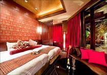 【禁煙】ヴィラスイートツイン(306号室)43平米、露天風呂(TV付)、岩盤浴室(2床)