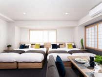 アパートメント(シングルベッド4台)