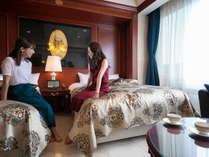 高級感溢れるお部屋で、お友達との会話も盛り上がります。