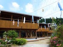 *【日本間外観】木を使った建物は周囲の景色に溶け込みます。