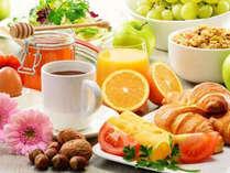 【選べる朝食】(イメージ) パーティテントorホテルのソーニ・ディ・ソーニにてお召し上がりいただけます