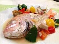 お魚のメインディッシュ(アクアパッツァ)