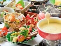 信州真田山里料理 冬のチーズフォンデュ会席料理(イメージ)