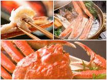 【茹でズワイ蟹一杯・焼き蟹・かに鍋】かに満喫&越前の冬味覚も味わえるかに三昧会席★7つの特典付