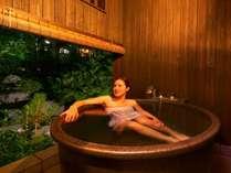【露天風呂付客室】 ※夜風を感じながらゆっくり至福のひとときを。