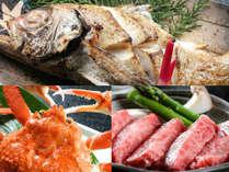 のどぐろ・かに・牛ステーキ…お好きなお料理でご予約ください! ※イメージ