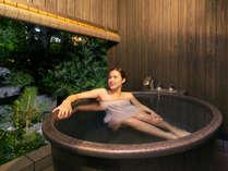 【客室露天風呂】夜風を感じながらゆっくり至福のひとときを。