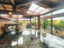 庭園大浴場【はなこの湯】庭園を眺めながら至福のひと時を