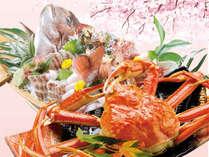 旬の桜鯛とズワイガニ1杯付のお得なプランも♪