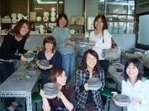 観光プランE  陶芸体験付(手びねり等) ☆近江鶏すき焼き膳 二食付 のんびりプラン☆