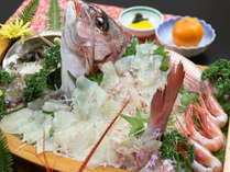 【ふるさと割】【名物☆相差大漁盛】現役海女のおもてなし♪伊勢海老もアワビも『極上の宴』☆[1泊2食付]