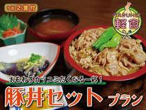【ザ・軽食】≪安得★ビジネス&出張応援≫条件クリアで当館最安1泊2食付@ガッツキ豚丼