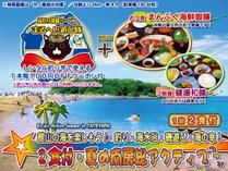 夏はやっぱり海!南房総で夏を思いっきり楽しもう♪画像は綺麗な水の沖ノ島海水浴場(宿から車4分)
