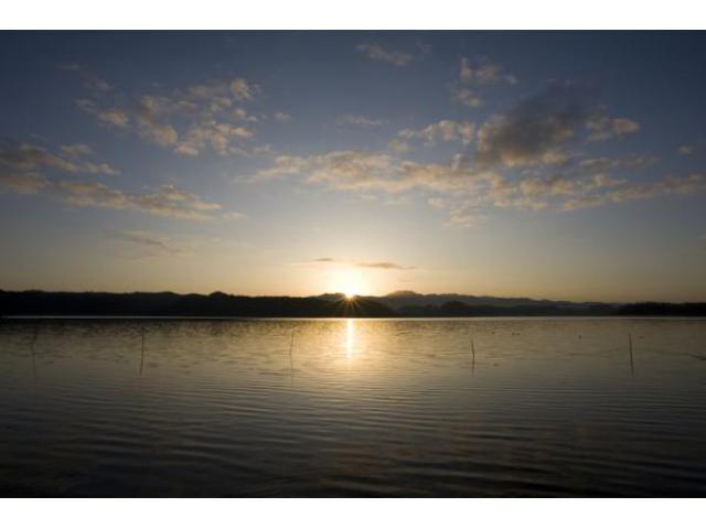 北潟湖 初日の出