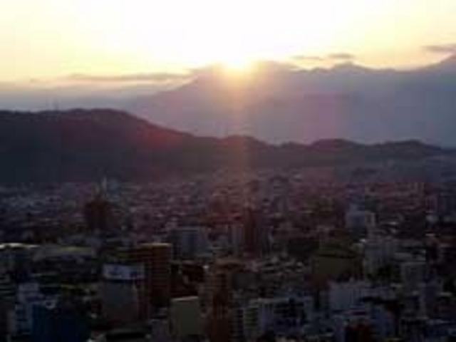松山城 初日の出
