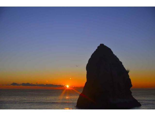 磯原海岸 初日の出